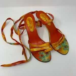 Ann Marino Lace Up Heels